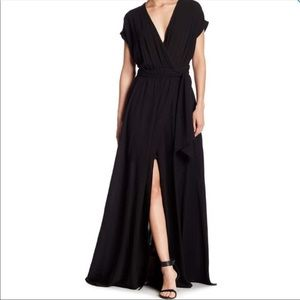 Meghan LA Jasmine Wrap Maxi Dress NWOT